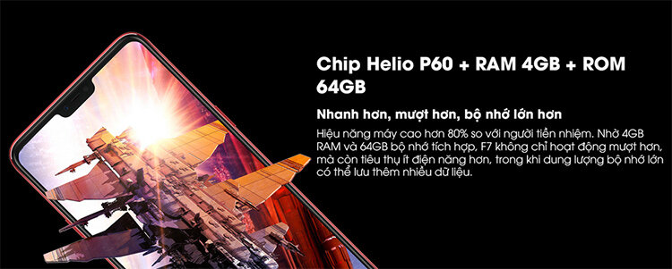 Điện thoại Oppo F7 Silver