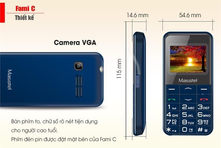Điện thoại Masstel Fami C -Red