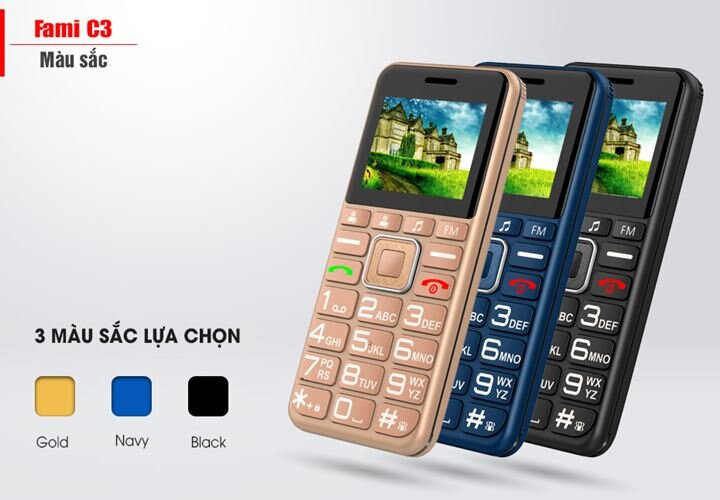 Điện thoại Masstel Fami C3 Black