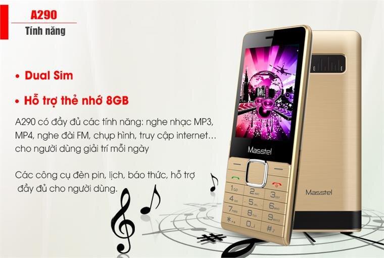 Điện thoại Masstel A290 Black