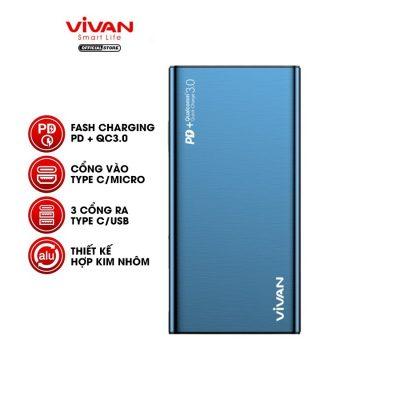pin sc d phng 10000mah vivan vpb f10s 18w sc nhanh chun pdqc 30 2