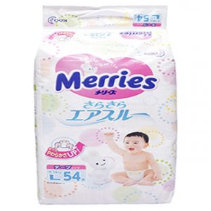 Tã dán Merries size L54 miếng (trẻ từ 9 – 14kg)