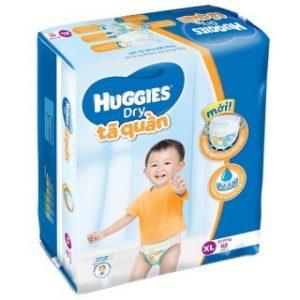 Tã quần Huggies size XL62 miếng (trẻ từ 12 – 17kg)