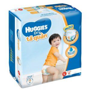 Tã quần Huggies size L68 miếng (trẻ từ 9 – 14kg)