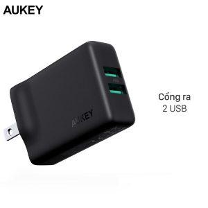 Adapter sạc 4.8A Dual Aukey PA-U50