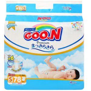 Bỉm – Tã dán Goon Premium size S – 78 miếng (Cho bé 4 – 8kg)