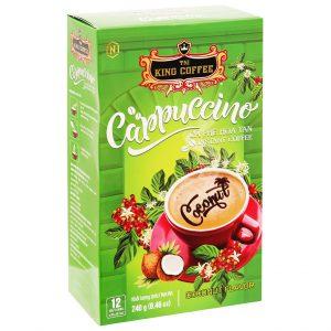 Cà phê Cappuccino TNI King Coffee hương dừa – 240g