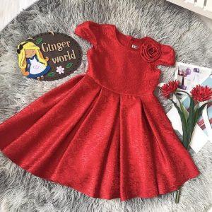 Đầm dự tiệc gấm cho bé Gingerworld HQ852