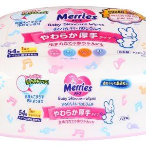 Hộp giấy ướt Merries Nhật 54 tờ