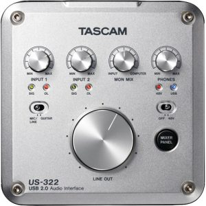 Soundcard thu âm Tascam US-322