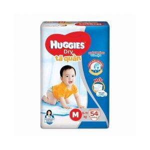 Tã quần Huggies Dry size M 54 miếng (cho bé 6 – 11kg)