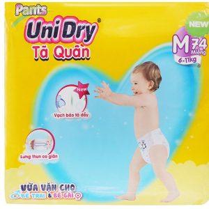 Tã quần Unidry size M 74 miếng (cho bé 6 – 11kg)