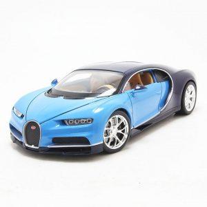 Xe mô hình Bugatti Chiron Blue 1:24 Welly