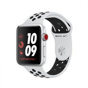 Đồng hồ thông minh Apple Watch Series 3 Nike+ – 38mm, GPS + Cellular, viền nhôm dây cao su