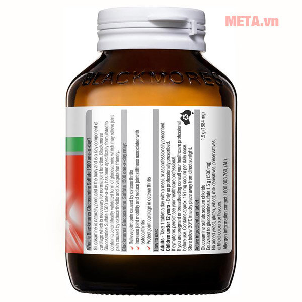 Thực phẩm chức năng Blackmores Glucosamine Sulfate 1500mg One-A-Day
