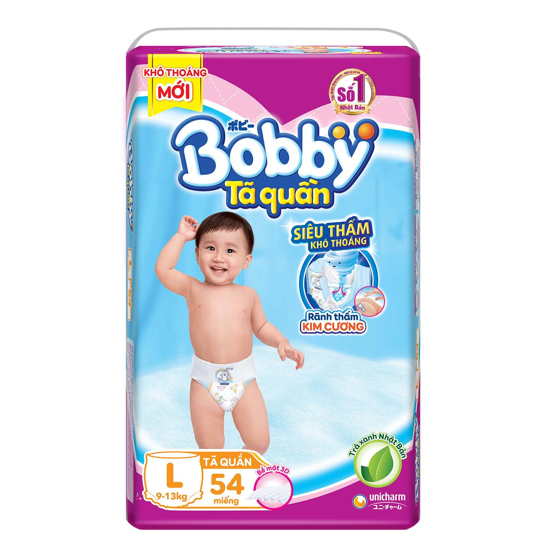 Bỉm - Tã quần Bobby size L 54 miếng (cho bé 9 - 13kg)