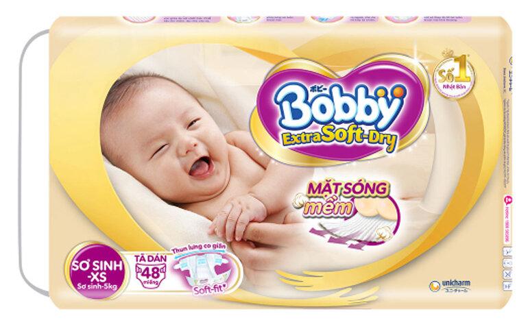 tã dán Bobby Extra Soft Dry size XS