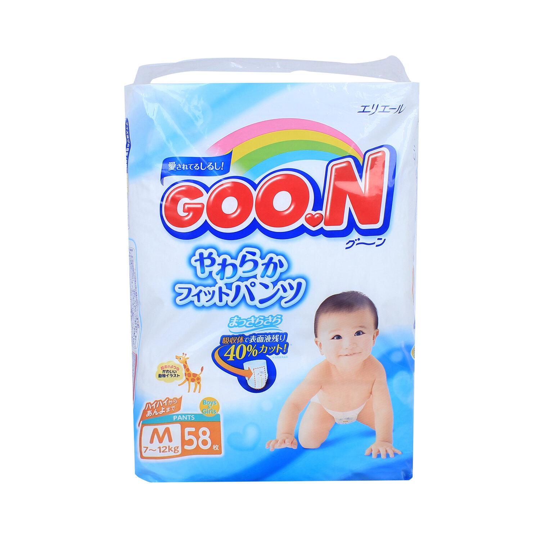 Bỉm - Tã quần Goon size M58 nội địa (cho bé 7-12kg)