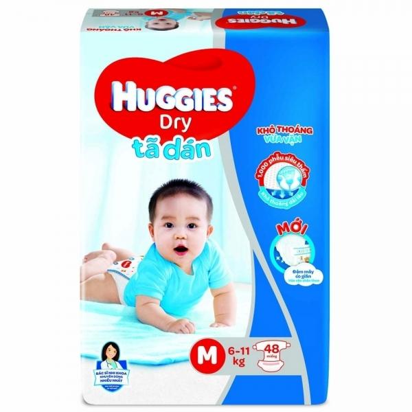 Ta dan Huggies Dry Jumbo size M 48 mieng