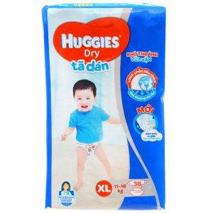 Tã dán Huggies Dry size XL 38 miếng (cho bé 11 – 16kg)