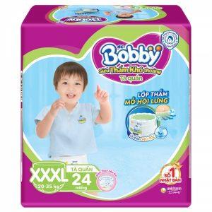Tã quần Bobby size XXXL 24 miếng cho trẻ 20-35Kg