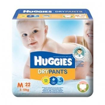 Ta quan Huggies size M22 mieng tre tu 5