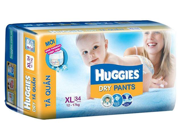 Ta quan Huggies size XL34 mieng tre tu 12