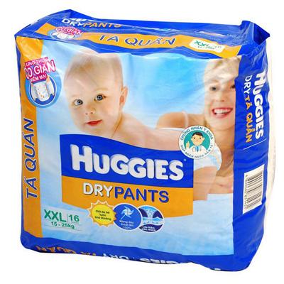 Ta quan Huggies size XXL 16 mieng tre tu 15