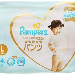 Tã quần Pampers cao cấp size L 34 miếng (cho bé 9 – 14kg)